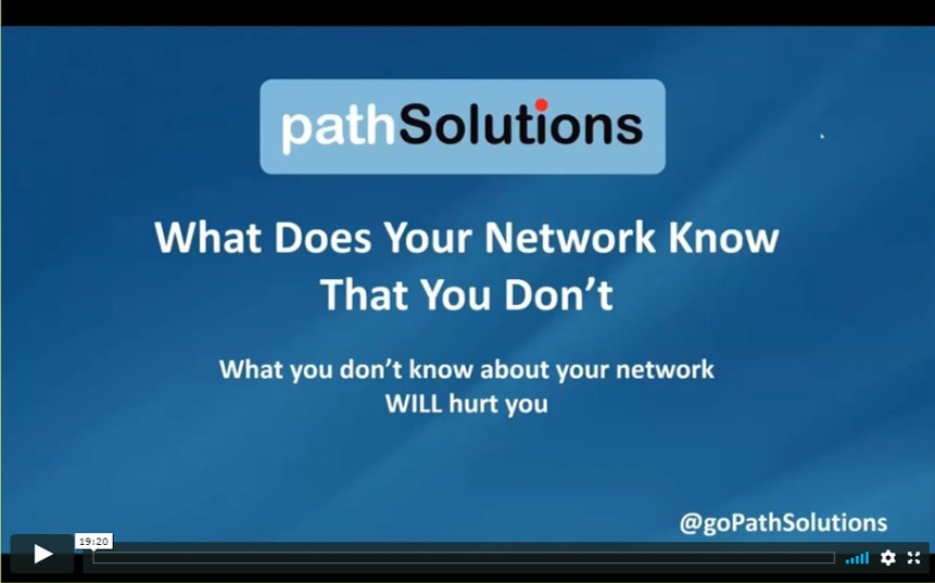 recorded webinar - What does your network know that you do not